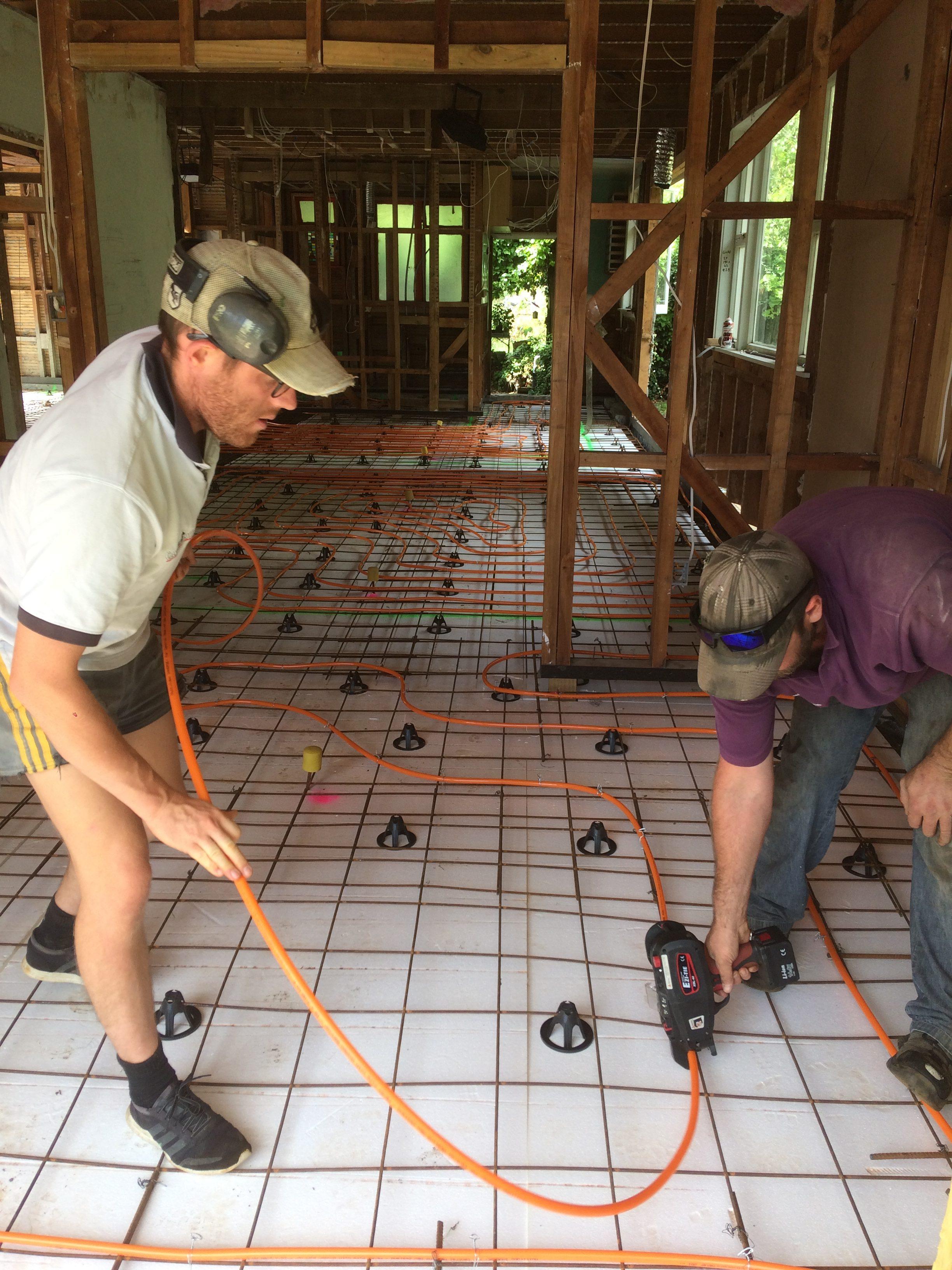Retrofitting underfloor to a existing home